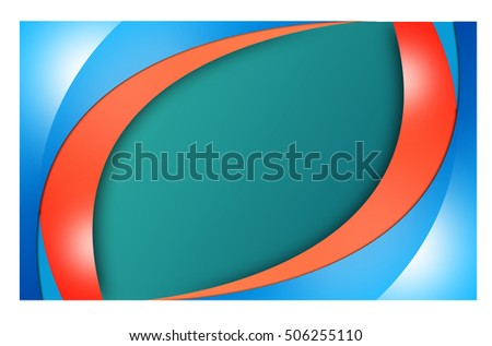 design  of colored rings and waves.  abstract background.banner.