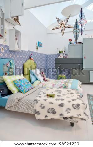 design of colorful children room - stock photo