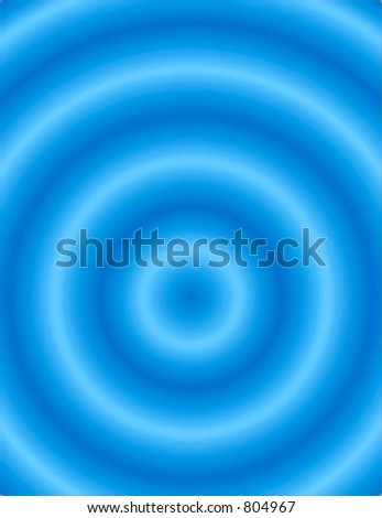 Design of concentric blue ripples