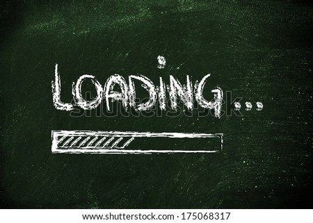 design of funny progress bar loading