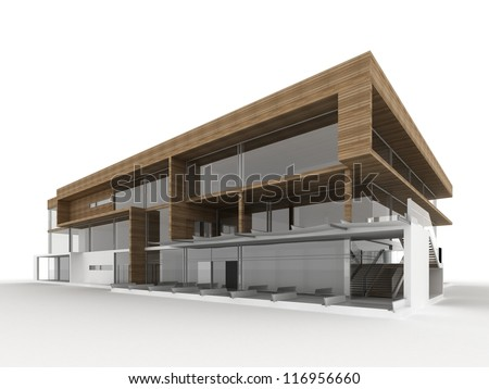 Stock images similar to id 116957395 blueprint design of for Modern small office building design