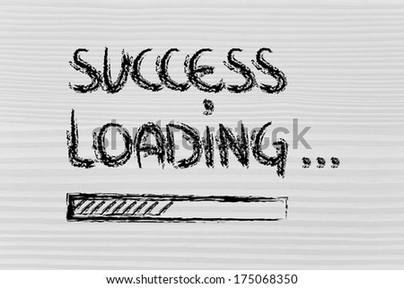 design of success progress bar loading, concept of creating or waiting for success  - stock photo