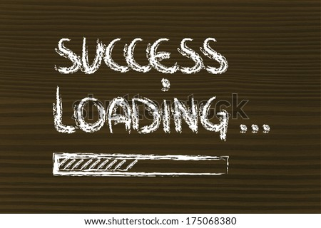 design of success progress bar loading, concept of creating or waiting for success