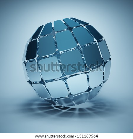 Design of the ball made out of square segments