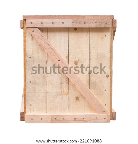 design of wood crate for cargo protection package isolated - stock photo