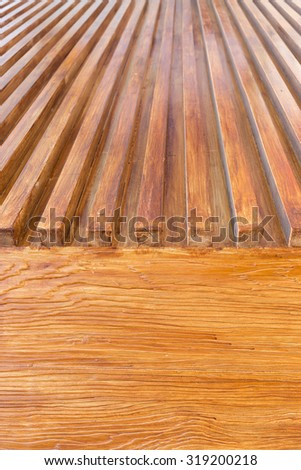 design of wood floor texture background, wooden stick varnish shiny for decoration interior - stock photo