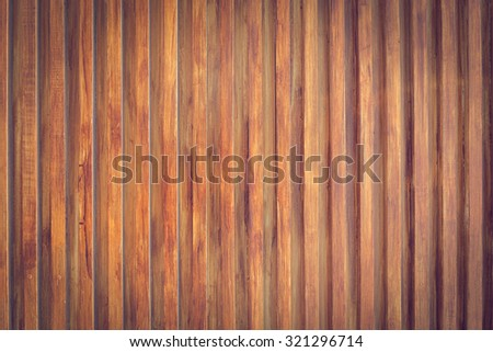 design of wood wall texture background, wooden stick varnish shiny for decoration interior - stock photo