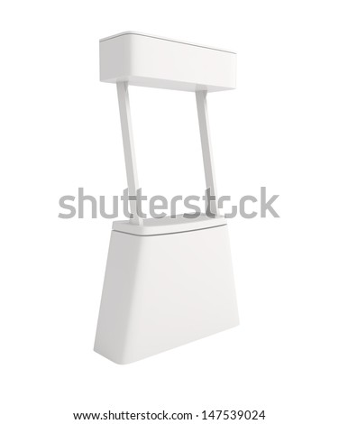 Design Pattern of Blank Counter for Business Presentation - 3d illustration - stock photo