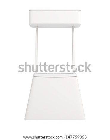 Design Pattern of Blank Counter for Business Presentation - 3d illustration