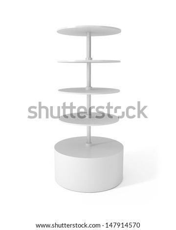 Design Pattern of Round Stand isolated on white - 3d illustration - stock photo