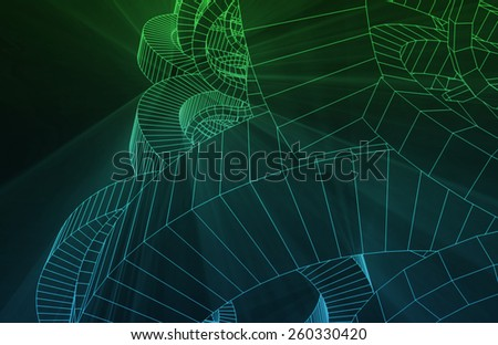 Design Schematics of Product or Machine as Art - stock photo