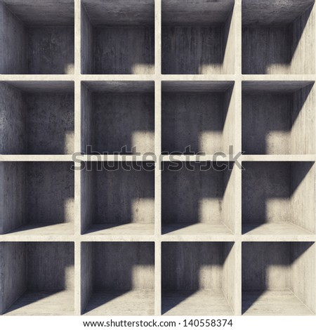 Design square sections of concrete - stock photo