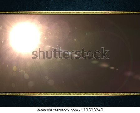 Design template - blue background with abstract nameplate. Template for writing - stock photo