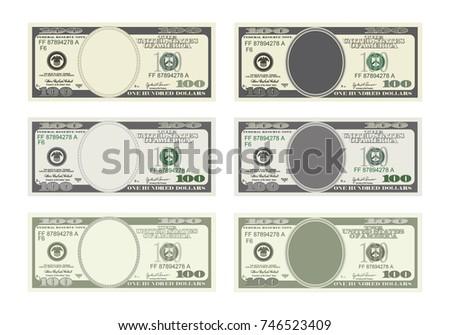 design template 100 dollars banknote bill stock illustration