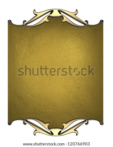 Design template - Gold background with gold nameplate