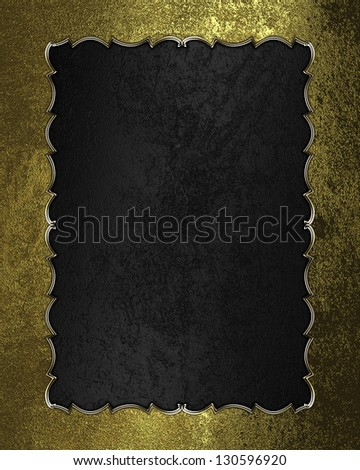 Design templates - Black texture with golden frame with pattern