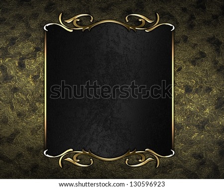 Design templates - vintage gold background with black nameplate and gold trim