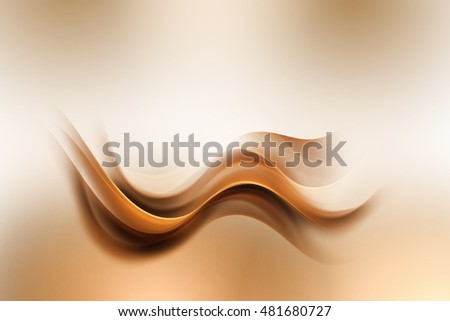 Design trendy elements for card, website, wallpaper, presentation. Brown gold modern bright waves art. Blurred pattern effect background. Abstract creative graphic. Decorative business style.