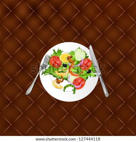 Design vegetarian menu your restaurant background - stock photo