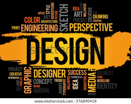 Design word cloud, creative business concept - stock photo