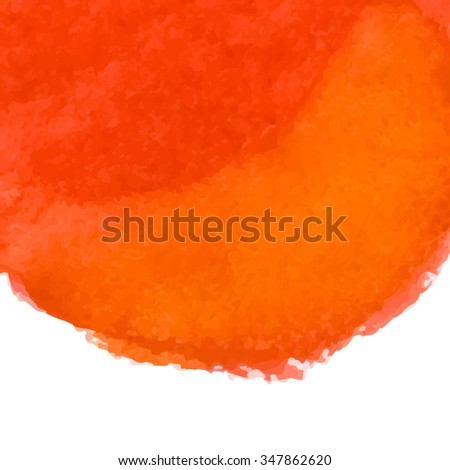 Designed abstract watercolor background, design element, orange and red  watercolor square.Bitmap illustration.