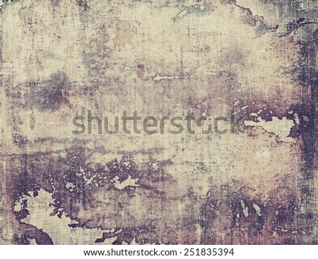 Designed background in grunge style. With different color patterns: yellow (beige); brown; gray; purple (violet) - stock photo