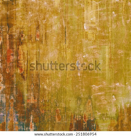 Designed background in grunge style. With different color patterns: yellow (beige); brown; red (orange) - stock photo