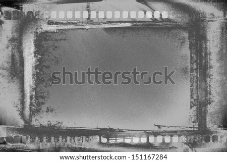 designed grunge film strip illustration - stock photo