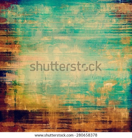 Designed grunge texture or background. With different color patterns: yellow (beige); brown; blue; green - stock photo