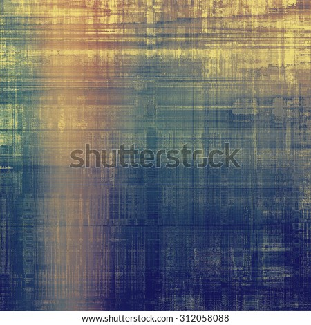 Designed grunge texture or background. With different color patterns: yellow (beige); brown; blue; pink - stock photo