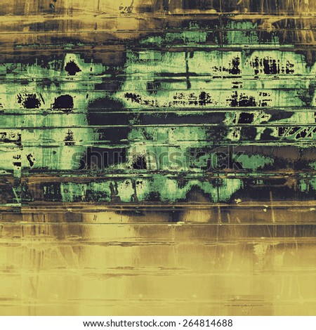 Designed grunge texture or background. With different color patterns: yellow (beige); brown; gray; green - stock photo