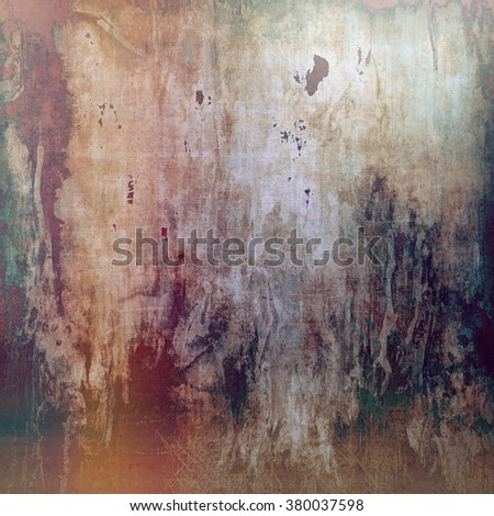Designed grunge texture or background. With different color patterns: yellow (beige); brown; green; gray; red (orange) - stock photo