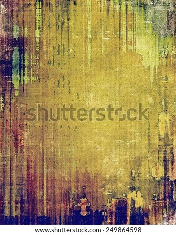Designed grunge texture or background. With different color patterns: yellow (beige); brown; purple (violet); green; blue - stock photo