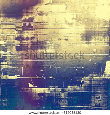Designed grunge texture or retro background. With different color patterns: yellow (beige); brown; blue; purple (violet) - stock photo