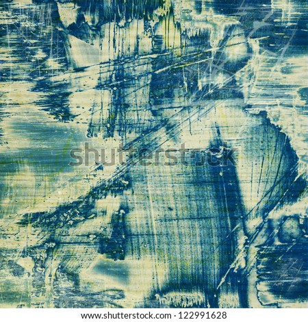 Designed grunge texture / paint background. For vintage wallpaper, old paper, and art border frame - stock photo