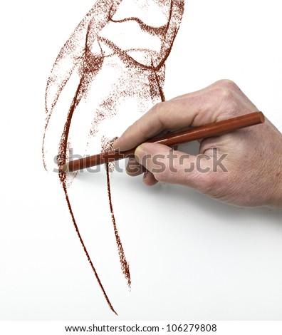Designer at work - stock photo