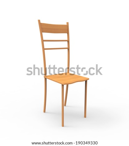 designer chair isolated on white background - stock photo