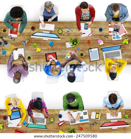 Designer Creative Occupation Working Office Contemporary Team Concept - stock photo