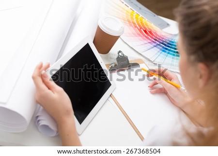 Designer, interior, graphic. - stock photo