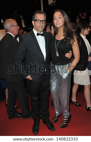 "Designer Kenneth Cole & daughter Kate at gala premiere for ""Only God Forgives"" at the 66th Festival de Cannes. May 22, 2013  Cannes, France"