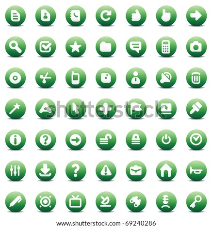 Designers icons set for computer interface. Raster version. Vector version is also available. - stock photo