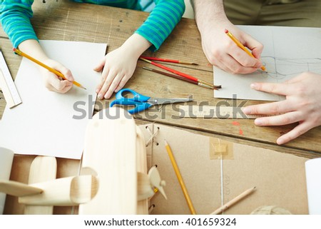 Designing carton toy - stock photo