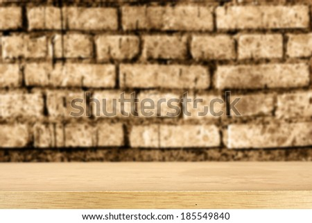 desk and wall  - stock photo