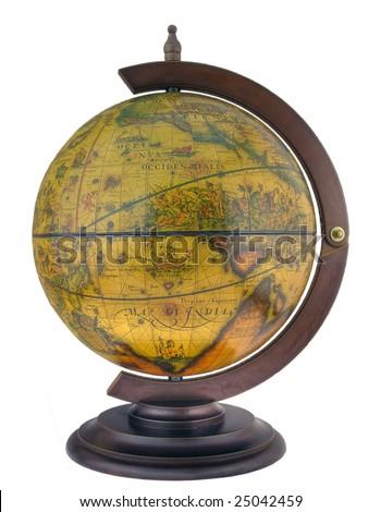 Desk antique style globe-souvenir - stock photo