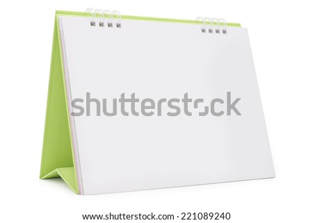Desk Calendar isolated on white,  file includes a excellent clipping path - stock photo
