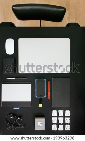 Desk From Above - stock photo
