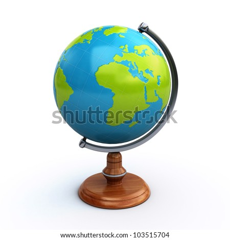 desk globe - stock photo