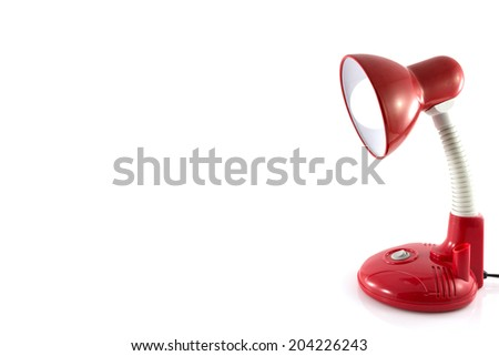 Desk lamp isolate on white background