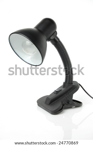 Desk lamp isolated on a white background