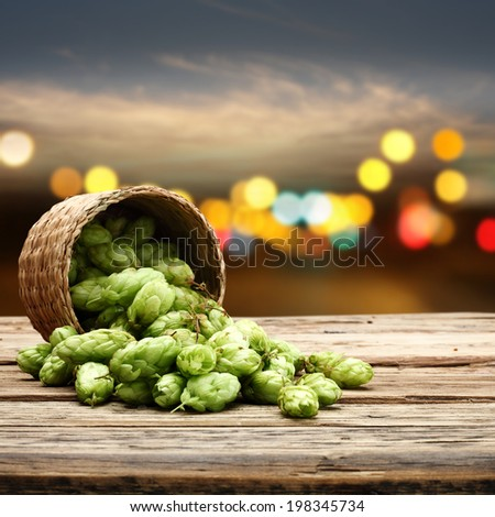 desk of beer  - stock photo